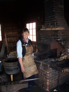 Lady Blacksmith at Grant-Kohrs Ranch