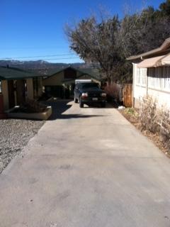 Cottage driveway & trailer