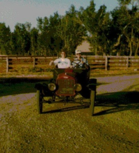 Dad & I in his rebuilt Model T