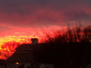 Blood red sunset 2014-01-07