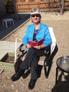 Heidi sits in sun 2_20_14