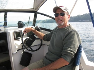 Paul on boat